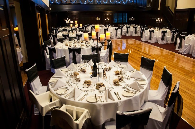 wattle park chalet wedding reception venue stephanie dance floor chair covers black sashes